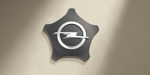 Cache-moyeu, Etoile, Aluminium brossé OPEL - 13343091