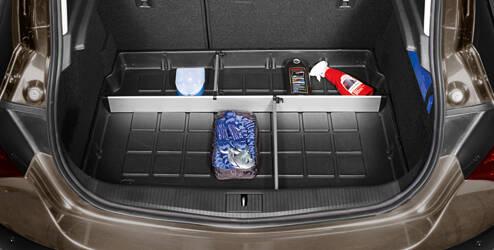 Organizer voor de bagageruimte, met scheidingswanden