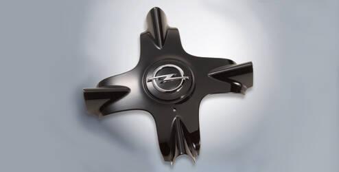Enjoliveur de moyeu de roue, en étoile - Noir brillante