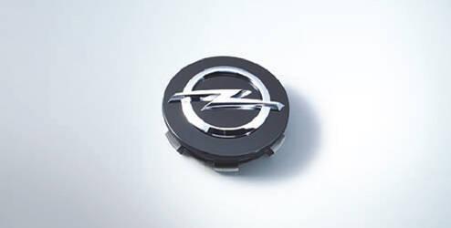 Enjoliveur de moyeu de roue, rond - Noir brillante OPEL - 13395741