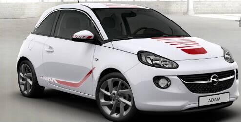 Kit d'autocollants extérieur, Zébrures, pour capot - Rouge''Red 'n' Roll''