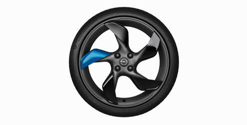 Velgclips, Let it Blue, 4-delige set