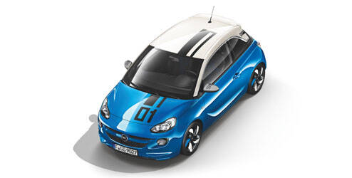 Kit extérieur, design «Number01», toit - Let it Blue