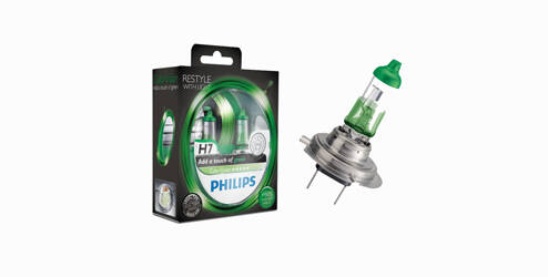 Philips ColorVision, H7 - set halogeenlampen, Green