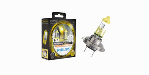 Philips ColorVision, ampoules halogènes H7 - Jaune