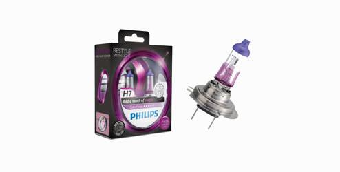 Philips ColorVision, ampoules halogènes H7 - Violet