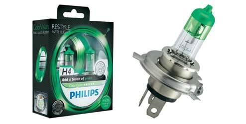 Philips ColorVision, ampoules halogènes H4 - Vert
