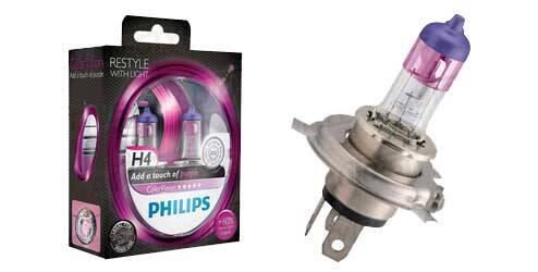 Philips ColorVision, ampoules halogènes H4 - Violet
