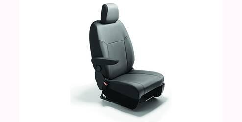 Housses, avant, pour siège conducteur et banquette passager modulable à deux places - Cuir synthétique