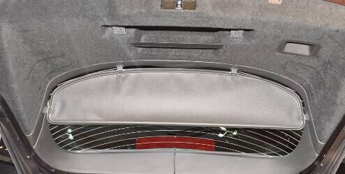 Afdekscherm voor de bagageruimte, zwart