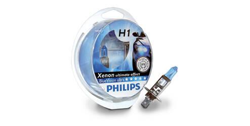 Ampoules halogènes H1, Philips BlueVision ultra