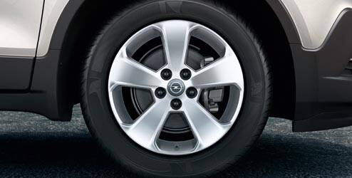 Jante alliage 17'' - 5 branches OPEL - 95396384