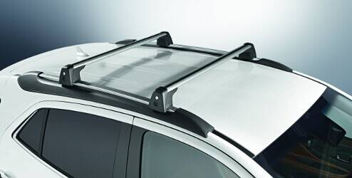 Barres de toit aluminium pour véhicules avec rails de toit