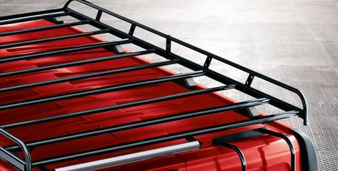 Galerie de toit, acier, noir - L2H2