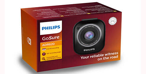 Caméra de tableau de bord Philips GoSure ADR620 Dashboard
