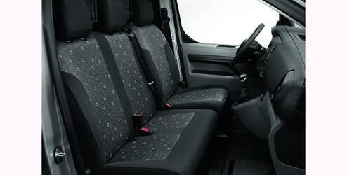 Housses, avant, pour siège conducteur et banquette passager fixe à deux places - Tissu