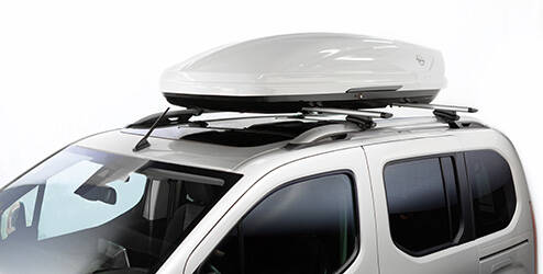 Coffre de toit Opel, blanc