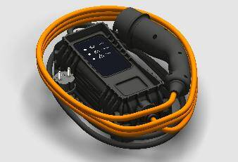 Câble de chargement mode 2 « Green'Up » (3,7 kW) type E+F, longeur: 6 m